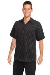 Black Pinstripe Cooks Shirt