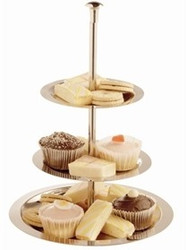 3 TIER STAINLESS STEEL DISPLAY TRAY