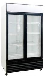 Saltas DFS1000 DOUBLE GLASS DOOR DISPLAY FRIDGE 1000litre. Weekly Rental $23.00