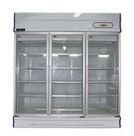 Anvil Aire GDJ1881 THREE GLASS DOOR DISPLAY FREEZER -1500 Litre. Weekly Rental $72.00