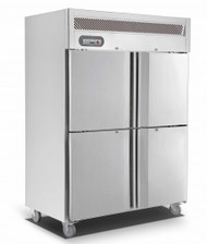 Saltas EUS2142 S/STEEL DOUBLE SPLIT DOOR FREEZER 1200Litre. Weekly Rental $44.00