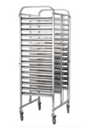 TRS2015 - DOUBLE GASTRONORM TROLLEY -2 x 15 TRAYS