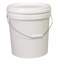 WHITE BUCKET WITH LID -15Litre