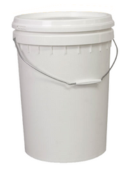 WHITE BUCKET WITH LID -20Litre