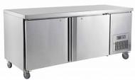 Saltas CUS1800 UNDERBAR FRIDGE S/S DOORS 1800mm -491lt. Weekly Rental $30.00