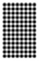 BLACK GINGHAM GREASEPROOF PAPER SHEETS 190 x 310mm