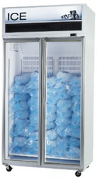 SKOPE - VF1000X-ICE - SERIES GLASS TWO DOOR FREEZER - WHITE. Weekly Rental $71.00