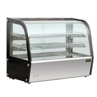 GC875-A. HEATED GLASS DISPLAY CABINET. CURVED FRONT GLASS. Weekly Rental $8.00