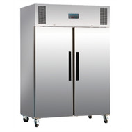 POLAR - DL896 - STAINLESS STEEL TWO DOOR UPRIGHT FREEZER. Weekly Rental $32.00
