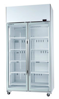 SKOPE TME1000-A - ACTIVE CORE TWO GLASS DOOR UPRIGHT CHILLER. Weekly Rental $45.00