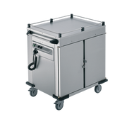 RIEBER - NORM -11-0 -  2 x Heated Cabinets Mobile Food Transport Trolley. Weekly Rental $125.00