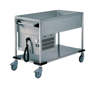 RIEBER - ZUB 3-K. 3 x 1/1 GN Delivery Trolley - Cooled. Weekly Rental $105.00
