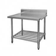 WBBD7-1200R - STAINLESS STEEL DISHWASHER OUTLET BENCH WITH POT SHELF. Weekly Rental $6.00