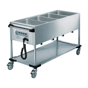 Rieber ZUB 4 - 4 x 1/1 GN Delivery Trolley. Weekly Rental $75.00