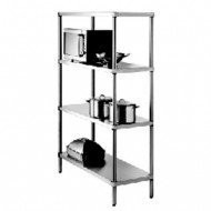 SIMPLY STAINLESS - SS17.0900SS - 4 TIER SHELVING. Weekly Rental $7.00
