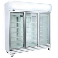 BROMIC - GD1500LF  - Upright 3 Glass Door Chiller with Lightbox. Weekly Rental $65.00