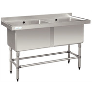VOGUE - DN761 - DOUBLE POT SINK. Weekly Rental $11.00