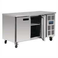 POLAR - G599 - STAINLESS STEEL 2 DOOR BENCH FREEZER. Weekly Rental $23.00