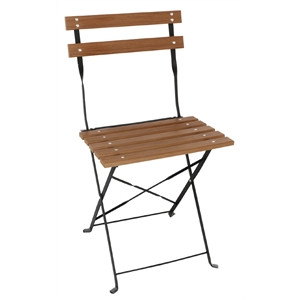 8b4c3a3e454 BOLERO - GJ766 - Faux Wood Bistro Folding Chairs (Pack of 2 ...