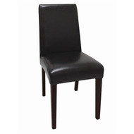 GF954 - Faux Leather Dining Chairs Black (Pack of 2)