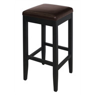 GG649 - Faux Leather High Bar Stools Dark Brown (Pack of 2)
