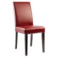 GH443 - Faux Leather Dining Chairs Red (Pack of 2)
