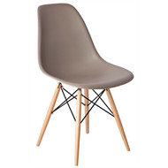 GG917 - Coffee Polypropylene Replica Eames Chairs (Pack of 2)