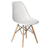 GG913 -  White Polypropylene Replica Eames Chairs (Pack of 2)