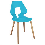 GM658 -  Blue Polypropylene Angel Chairs (Pack of 4)