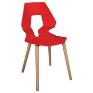 GM657 - Red Polypropylene Angel Chairs (Pack of 4)