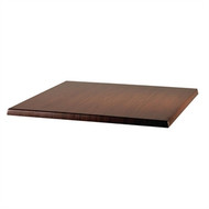 WERZALIT - CE158 - Square Table Top Italian Walnut 600mm