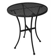 GG705 - Black Steel Patterned Round Bistro Table Black 600mm