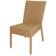 CF158 - Wicker Side Chairs Natural (Pack of 4).Weekly Rental $4.00