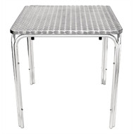 U505 - Square Stacking Table Stainless Steel 700mm