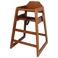 DL901 - Wooden Highchair Dark Wood Finish