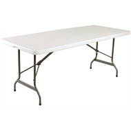 L001 - Centre Folding Utility Table White