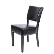 GF957 - Chunky Faux Leather Chairs Dark Brown (Pack of 2)