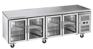 EXQUISITE - SSC550G - FOUR GLASS DOOR UNDER BENCH REFRIGERATOR. Weekly Rental $41.00