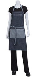 Manhattan Indigio Blue Denim Bib Apron