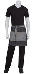 Manhattan Black/Grey Denim Half Apron