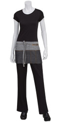 Manhattan Black/Grey Denim Waist Apron