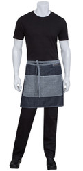 Manhattan Indigo Blue/White Denim Half Apron