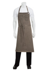 Dorset Earth Brown Large Bib Apron