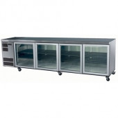 SKOPE - CL800 - SW - 4 Glass Door Underbench Chiller - White. Weekly Rental $90.00