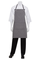 Brooklyn Black/Grey Bib Apron