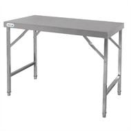 VOGUE - CB906 - STAINLESS STEEL FOLDING TABLE. Weekly Rental $6.00