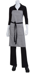 Portland Black Denim Bib Apron