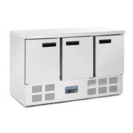 Polar - G622 - 3 Door Counter Fridge 363Ltr Stainless Steel. Weekly Rental $20.00