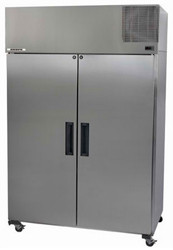 SKOPE PEGASUS PG1300VF STAINLESS STEEL 2 DOOR UPRIGHT FREEZER. Weekly Rental $93.00