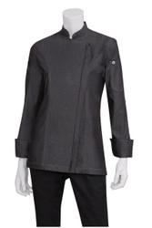 Gramercy Womens Denim Zipper Chef Jacket